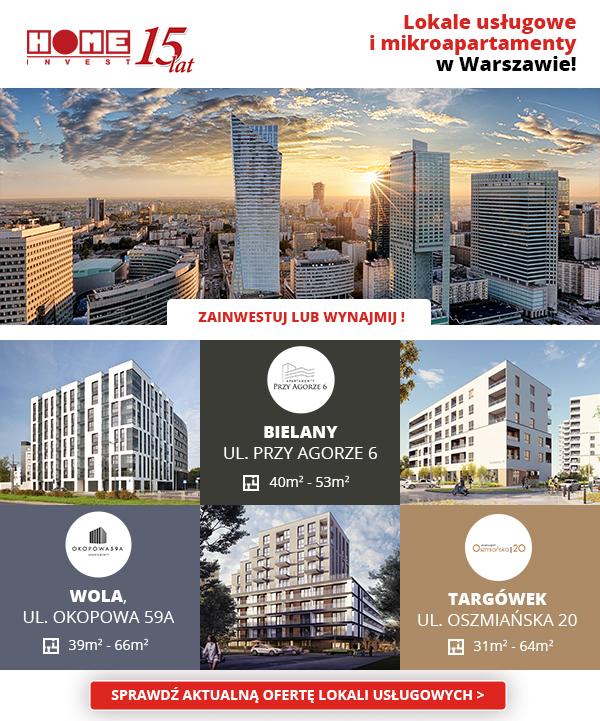 Home Invest lokale usługowe Warszawa