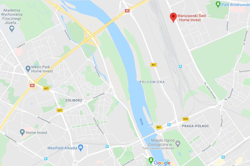 mapa warszawski świt